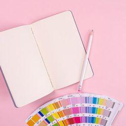 מחברת, עיפרון ופלטת צבעים